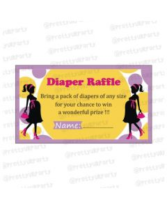 Ready to pop Diaper raffle Tickets