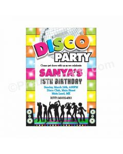 Disco Party Theme Invitations 01