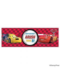 Personalized Disney Cars Birthday Banner 36in