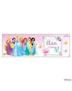 Personalized Disney Princess Birthday Banner 36in