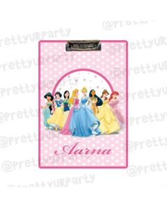 Personalised Disney Princess Clipboards With Name