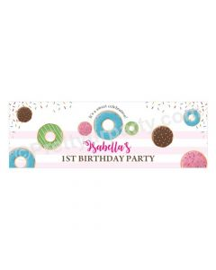 Personalized Donut Theme Banner 30in