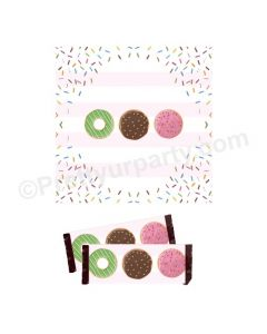 Donut Theme Chocolate Wrappers