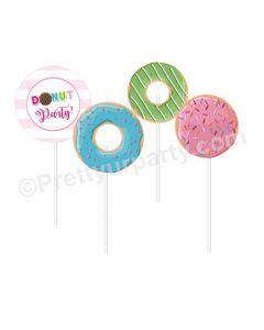 Donut Theme Cupcake / Food Toppers