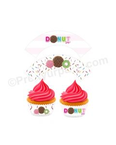 Donut Theme Cupcake Wrappers