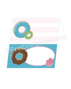 Donut Theme Food Labels / Buffet Table Cards