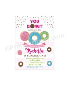 Donut Theme Invitations