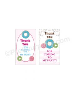 Donut Theme Thank you Tags