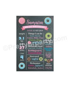 Donut Theme Chalkboard Poster