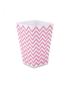 Pink Chevron Popcorn Box - Pack of 10