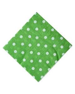 Green Polka Dot Paper Napkins