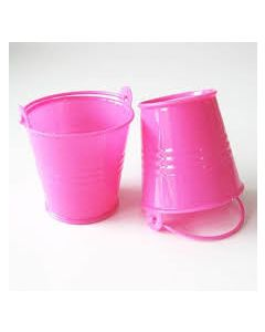 deep pink small bucket favors