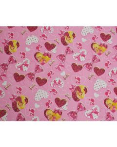 Light Pink Barbie Wrapping paper (pack of 5)