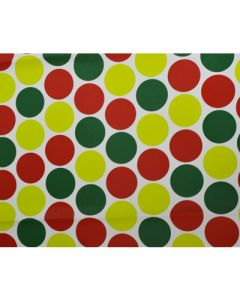 Red Green Yellow Polka dots Wrapping paper (pack of 5)