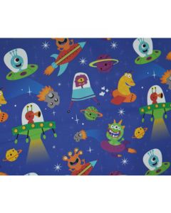 Space Monsters Wrapping paper (pack of 5)