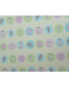 Cakes & Hearts Wrapping paper (pack of 5)