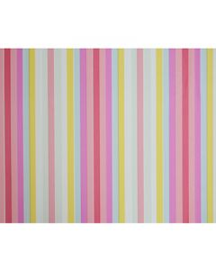 Colored Thin Stripes Wrapping paper (pack of 5)