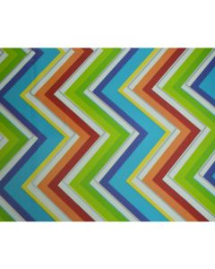 Colored Chevron Wrapping paper (pack of 5)