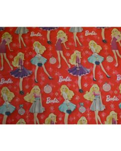 Red Barbie Wrapping paper (pack of 5)