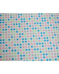 Small Blue Pink Polka dots Wrapping paper (pack of 5)