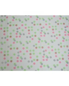 Small Green Pink Polka dots Wrapping paper (pack of 5)