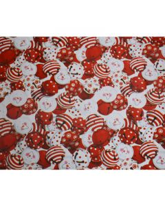 Red Smileys Double Sided Wrapping paper (pack of 5)