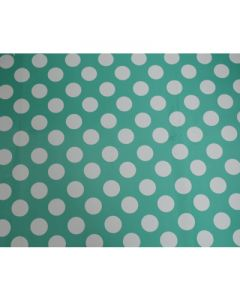 Aqua Green Polka Dots Wrapping paper (pack of 5)