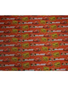 Disney Cars Wrapping paper 01  (pack of 5)