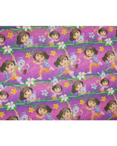 Dora Pink Wrapping paper  (pack of 5)