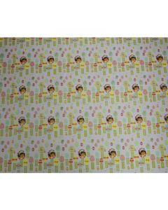Dora white Wrapping paper  (pack of 5)