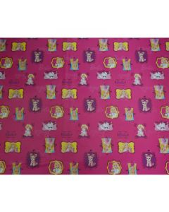 Pink Barbie Wrapping paper (pack of 5)