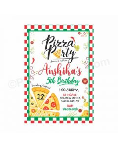 Pizza Party Theme E-Invitations