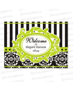 elegant damask entrance banner / door sign