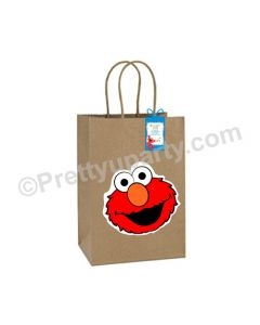 Elmo Theme Gift Bags - Pack of 10