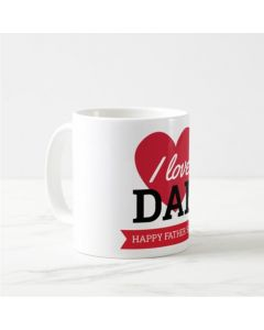 Fathers Day I Love Dad Mug - Red