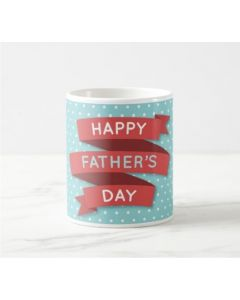 Fathers Day Happy Fathers Day Mug - Red and Blue
