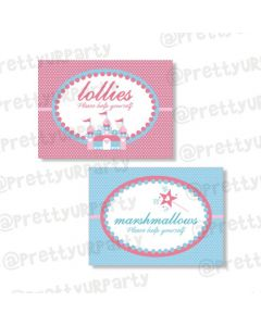 Fairy  Princess Food Labels / Buffet Table Cards