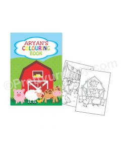 Farm Friends Theme Colouring Book