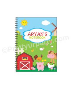 Farm Friends Note Books with coloured Pages - 200 pages