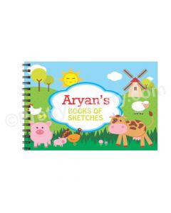 Farm Friends themed Personalised Sketchbook