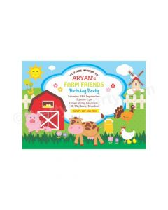 Farm friends E-Invitations