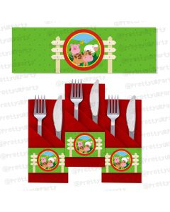farm friends theme napkin rings