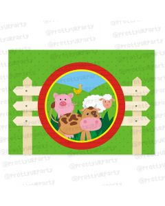farm friends theme table mats