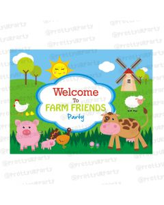 farm friends theme entrance banner / door sign