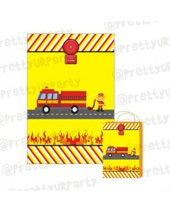 Fire Truck Theme Khoi Bag