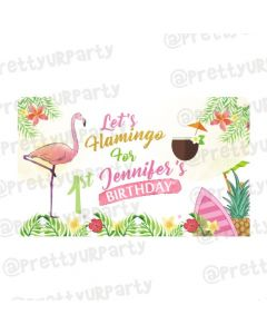 Flamingo Theme Backdrop