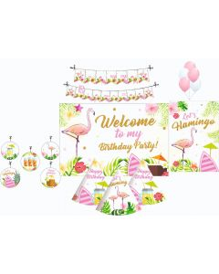 Flamingo Party Decorations Package - 70 pieces