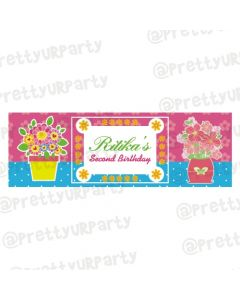 Personalized Flowers Birthday Banner 36in