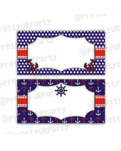 Nautical Theme Food Labels / Buffet Table Cards