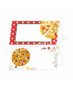 Pizza Party Theme Food Labels / Buffet Table Cards